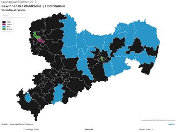 HIGHEST SECURITY | Wahlkreisebene-Widget: Vorläufiges Ergebnis